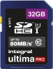INTEGRAL Carte SDHC Ultima Pro 32GB (80MB/s) (Class 10) (Promo)