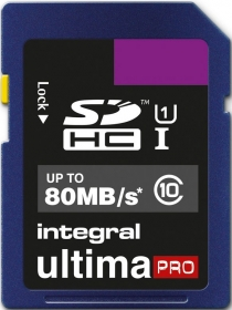 INTEGRAL Carte SDHC Ultima Pro 8GB (80MB/s) (Class 10)