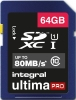 INTEGRAL Carte SDXC Ultima Pro 64GB (80MB/s) (Class 10)