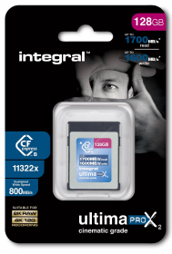 INTEGRAL Carte Cfexpress Type B 2.0 128Gb Cinematic 8K RAW (New)