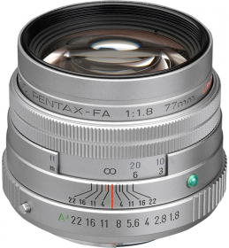 PENTAX 77mm f/1.8 SMC FA Limited Silver (OP SUMMER)