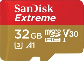 SANDISK Carte Micro SDHC Extreme 32GB V30 (100MB/s)+ Adapt