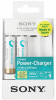 SONY Kit Chargeur USB + 2 Piles AA Rechargeables - 1900 mAh